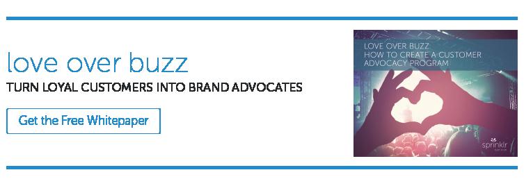 Customer advocacy CTA