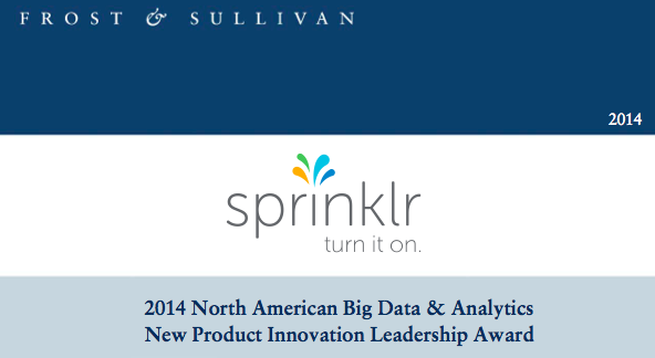 Sprinklr Social Media Management Frost and Sullivan Award
